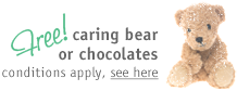 Free caring bear or chocolates