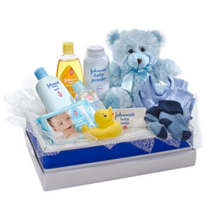 Cuddles for Him 312 Teddy Bear with selection of Baby Care Goods