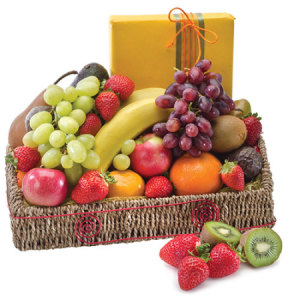Twice the treat H216 Fruit & Chocolates basket