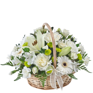 Comfort 394 -Sympathy basket of flowers