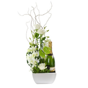 Congratulations 308 Designer flower arrangement with sparkling wine