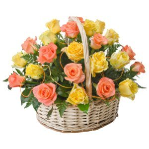Caress 24 Orange and Yellow Roses 243