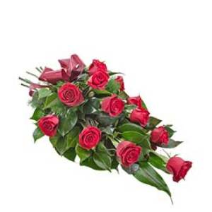 Passion - sheaf 1 dozen long stem red roses