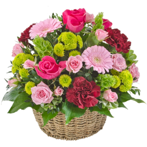 Flourish Mixed Basket of Bright Fresh flowers 304