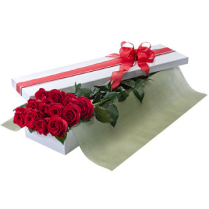 Seduction Flat box red roses 200