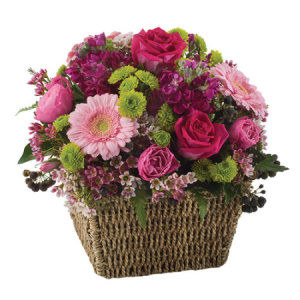 Elise WS232- Bright mixed basket of flowers