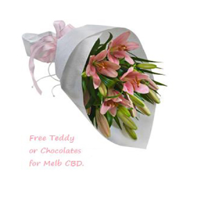 Pink Asiatic Lily wrap 513