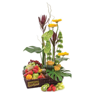 Exotica Flower & Fruit Basket H179